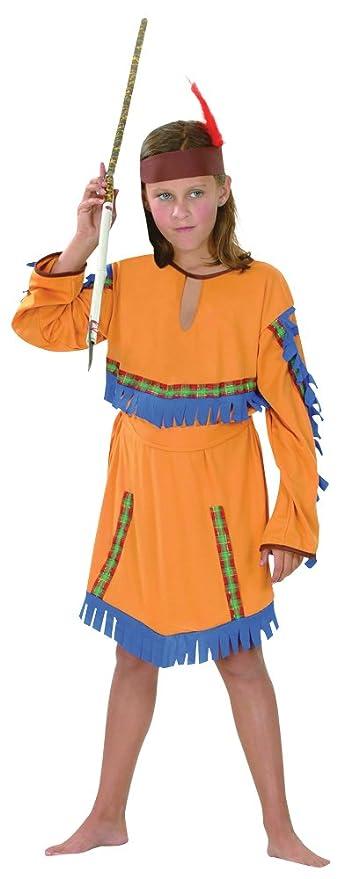 500e6a44a8290 Theme Fancy Dress Disfraz de niña de Indígena India. 3-5 años ...