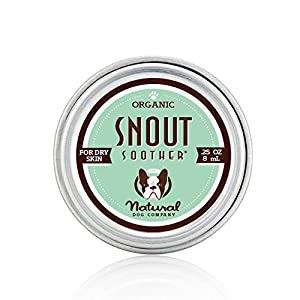 Natural Dog Company SNOUT SOOTHER TRAVEL SIZE - Dry Chapped Cracked and Crusty Dog Nose Remedy for Dry Dog Noses .25 oz