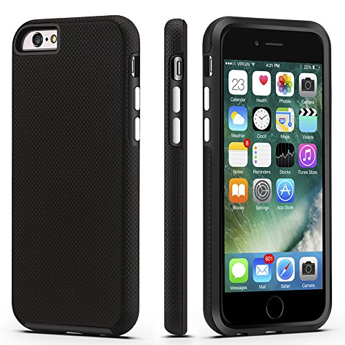 iPhone 6 / 6s Case, CellEver Dual Guard Protective Shock-Absorbing Scratch-Resistant Rugged Drop Protection Cover for Apple iPhone 6 / 6S (Black) by CellEver