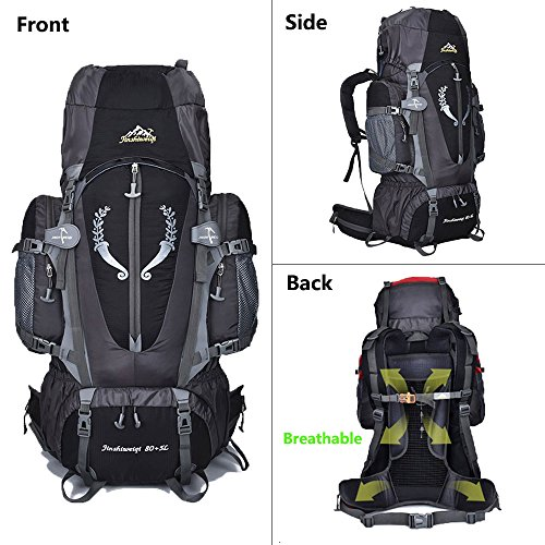 80 L + 5 L Internal Frame Backpack Outdoor Waterproof Backpack ...