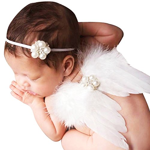 Baby Girls Angel Wings Wing Set Feather Newborn Photography Props - - 6