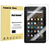 Red Lemon Tempered Glass Screen Protector for Amazon Fire 10 [9H Hardness][2015 Release][Crystal Clearity , Scratch-Resistant & No-Bubble Easy Installation][lifetime warranty]