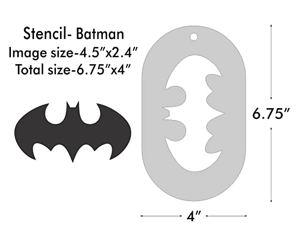 Amazon Large Stencil Batman Symbol Handmade