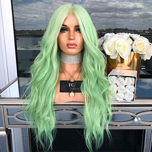 Hair Light Green Lace Front Wig with Part