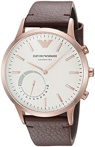 Emporio-Armani-Connected-Hybrid-Smartwatch-Mens-ART3002-Brown-Leather