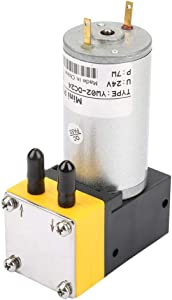 Aeloa Micro Vacuum Pump, Air Pump, 0.4-1L/min Miniature Diaphragm Pump, Vacuum Pump for Air/Liquid 24V
