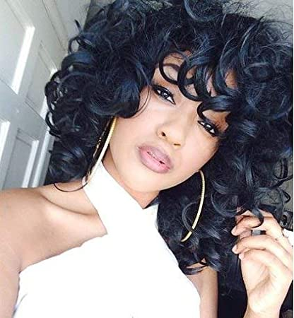 Incredible Ruisenna Short Fluffy Wavy Wigs Big Curls Wigs For Black Women Natural Hairstyles Runnerswayorg
