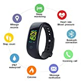 uwinmo Bluetooth Fitness Tracker, Activity Tracker with Heart Rate Monitor, Sleep Monitor, IP67 Waterproof,Smart watch with Pedometer for Kids Women Men, Health sport Smartwatch for IOS & Android