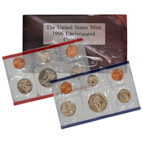 1996 United States Mint Uncirculated Coin Set (U96) in Original Government Packaging