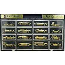 """Hot Wheels 1994 Gold Series Collection II (F.A.O. SCHWARZ Fifth Avenue) """"Redlines"""" Exclusive Gold Chrome"""
