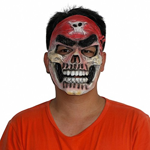 Toy Halloween Mask Evil Scary Skulled Pirate Latex