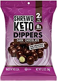 Shrewd Food Keto Chocolate Protein Crisp Dippers, High Protein Keto Snacks, Low Carb Chocolate