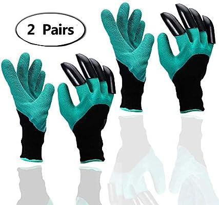 Guantes de jardín - A prueba de espinas guantes jardineria Para cavar y rosas Cactus Planting Nursery,Guantes de jardineríam Con los dedos de la garra (Claws en la mano derecha): Amazon.es: Industria,