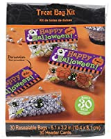 Family Friendly Halloween Trick or Treat Bags Kit Party Favour, Plastic, Pack of 30
