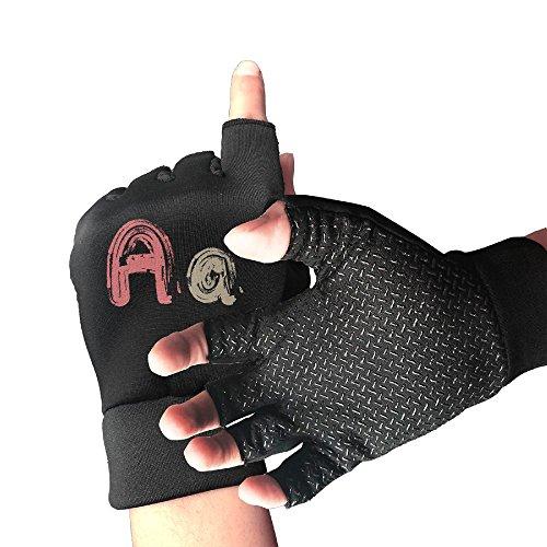 Addressverb Biking Half Finger Gloves Aa Words Unisex Anti-slip Shock-absorbing Foam Padded Gel Pad Gym Boxing Sports -