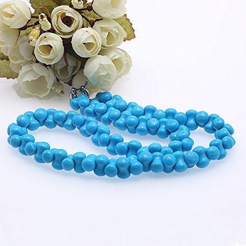 JYX Ensemble collier et bracelet en forme d/'os 12,5 x 8,5/mm Vert turquoise