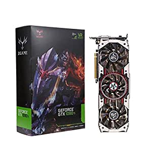 Video Graphics Card, Oksale iGame GTX1080Ti Vulcan AD 11GB Video Graphics Card, Equipped 3 Cooling Fans, 1594/1708MHz, Support for NieR, Rise of The Tomb Raider, The Elder Scrolls V, PUBG (Black)