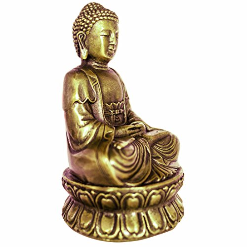 Small Buddha Statue (Buddha Statue Hand Made Crafted From Brass 4.33