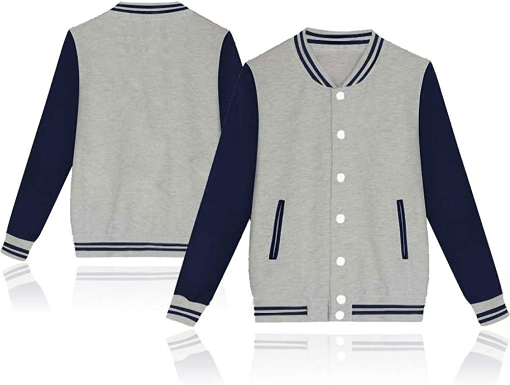 SIAOMA Mens Varsity Letterman Baseball Jacket