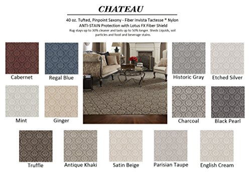 Runner 2.5'x12' Charcoal - CHATEAU - Custom Carpet Area Rug - 40 Oz. Tufted, Pinpoint Saxony - Nylon by Milliken (13 Colors to Choose From)