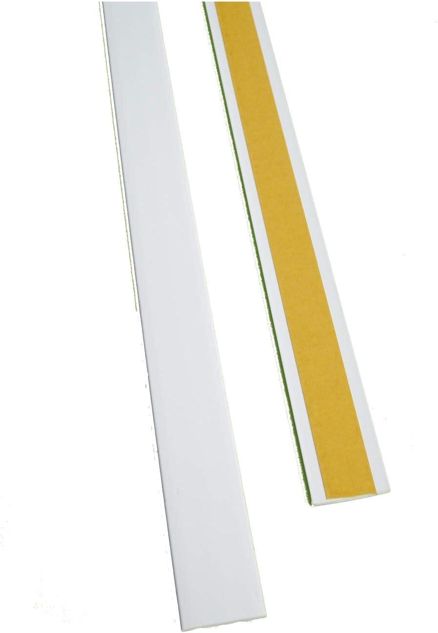Flachleiste Abdeckleiste Fensterleiste 30mm breit 3m lang Kunststoff Flachprofil