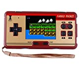 "QINGSHE FC Classic Handheld Game Console, Kids Retro Game Electronics Toys Portable Video Console Player, 2.8"" LCD 638 in 1 Games Arcade Video Gaming System Device,Great Gift for Kids- Brown"