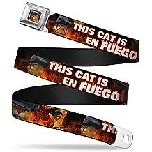 Shrek Seatbelt Belt - Puss in Boots Poses THIS CAT IS EN FUEGO