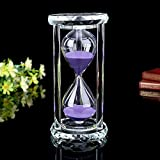 Siveit Crystal Hourglass Sand Timer with Gift Box, 30 min - Purple