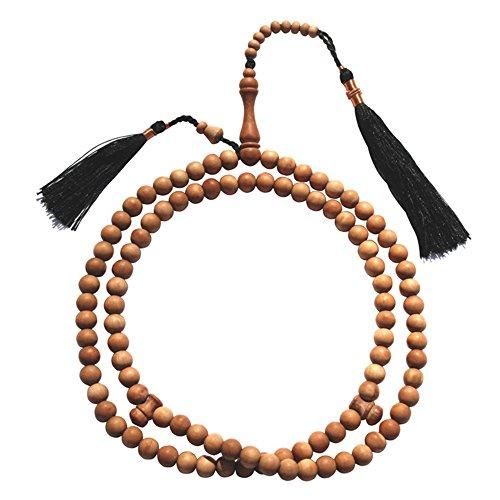 Sandalwood Prayer beads - 8mm-bead Sandal wood Tasbih Prayer Beads Misbaha Subha