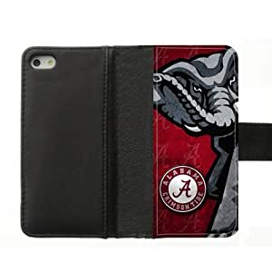 Generic Custom Extraordinary Best Design Alabama Crimson Tide Symbol Diary Leather Cover Case for iPhone5,With Credit Cards by ruishername