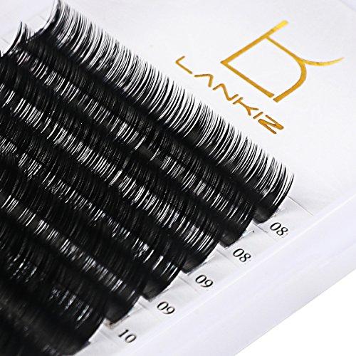 LANKIZ 3d Eyelash Extensions C Curl 0.15mm Mixed Tray, Volume False Lash Extensions Individual Eyelash Extension Supplies Salon Perfect Use by LK LANKIZ (Image #1)