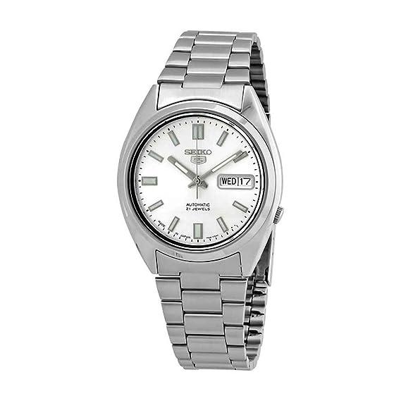 Seiko 5 Gents Reloj Automático, Acero Inoxidable, dial de Plata - snxs73j1 (Fabricado en Japón) por Seiko Relojes: Seiko: Amazon.es: Relojes