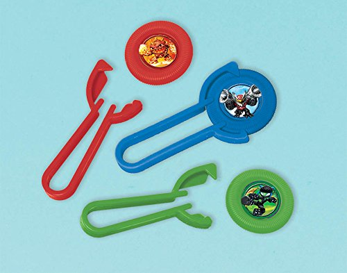 amscan Skylanders Party Favor Set Rubber Wristband Bracelets and 12 Disc Shooters -