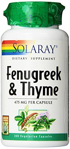 Solaray Fenugreek and Thyme Capsules, 475 mg, 100 Count by - 475 Capsules Mg 100