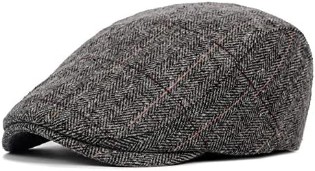 野球帽 キャスケット メンズ ハット ゴルフ フェルト 調整可能 レトロ ソフト クラシック ハンチング 55-59cm LWQJP (Color : 1, Size : Free size)
