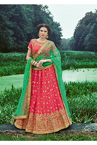 IWS Indian Women Designer Wedding GAJARI Lehenga Choli R-16311