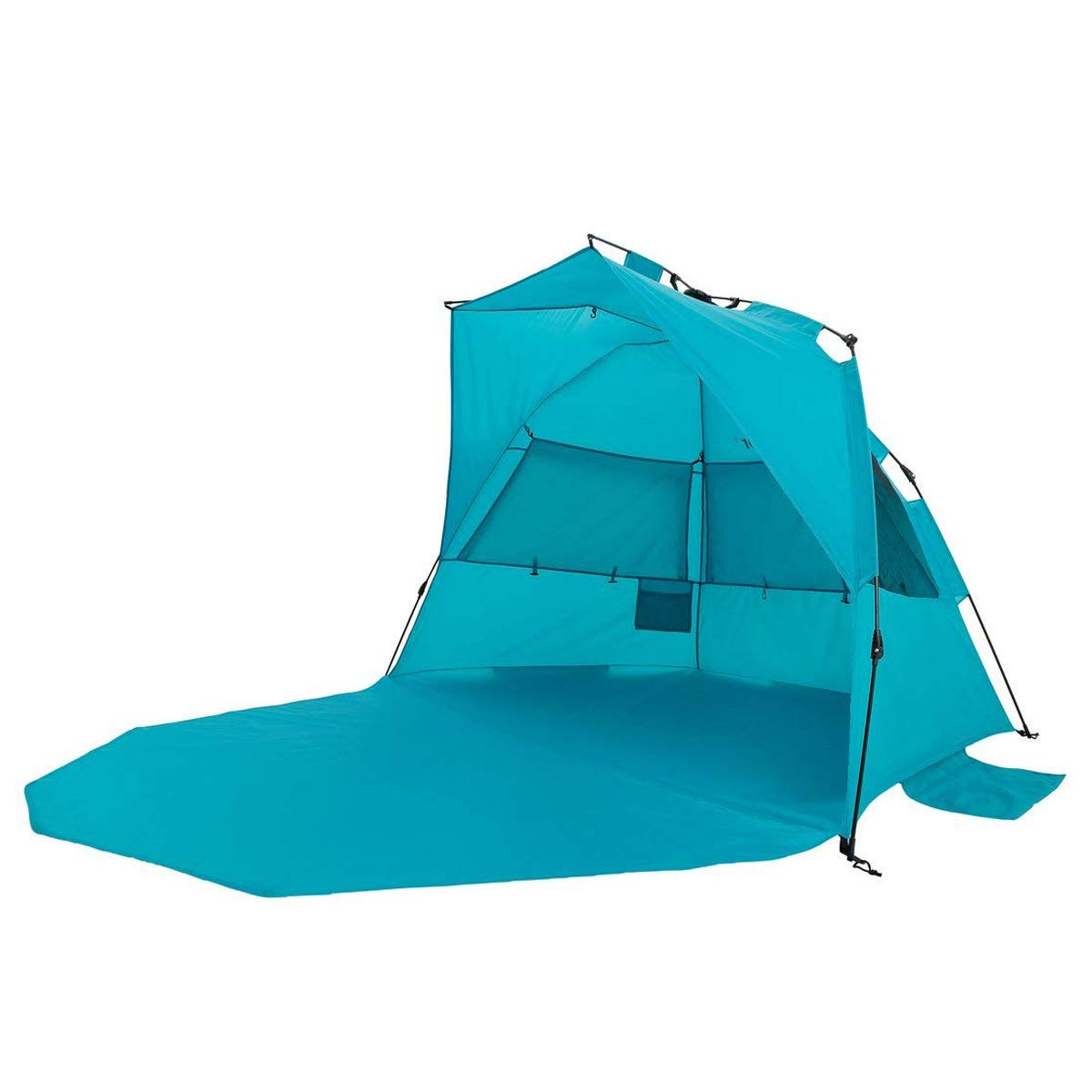 Alvantor Beach Tent Super Bluecoast Beach Umbrella Outdoor Sun Shelter Cabana Automatic Pop Up UPF 50 Sun Shade Portable Camping Fishing Hiking Canopy Easy Setup Patent Pending 3 or 4 Person