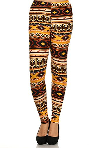 Elegant4U Junior's Printed Sunset Navajo Leggings (Tween Leggings)