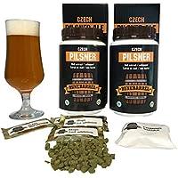 RuneBarrel Homebrew Beer Making Refill kit Premium Czech Pilsner Ale Beer Brewing 5 gallons Fresh & Original European Ingredients