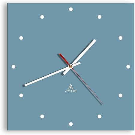 1312 D/écoration M/écanisme d/écoulement prete a Suspendre Pendule murales Moderne Horloge en Verre Horloge Murale Silencieux C1AC30x30-1312 30x30cm Pret a accrocher Carr/ée