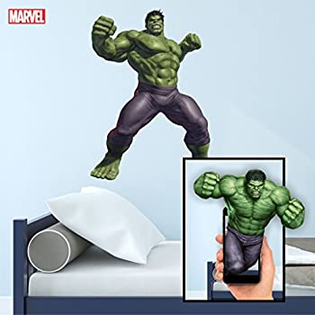 Roommates rmk1484gm hulk peel stick giant wall decal for Avengers wall mural amazon