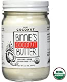 Binnie's Coconut Butter Organic Spread - Raw, Vegan, Non GMO, Keto - Just Coconut (12 oz)