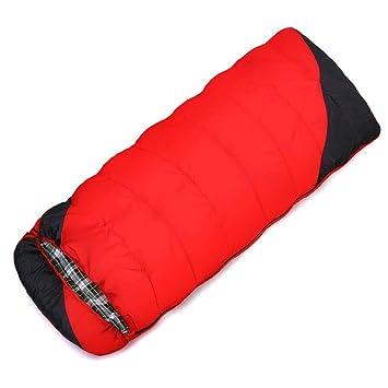 SHUIDAI El saco de dormir que acampa al aire libre que ensancha ensanchador espesa el saco de dormir adulto , Red: Amazon.es: Deportes y aire libre