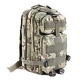 DWEFVS Hiking Camping Bag Army Military Trekking Rucksack Backpack Camo Storage Bag cp camo 30-40L