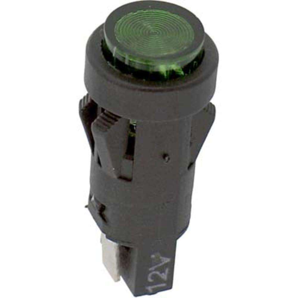 Indicator; PNL MNT; LED; MNT-Sz 0.5''; Snap-Fit; Green; 12VDC; Quick Connect, Pack of 2