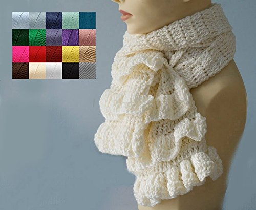 Hand Crochet Lace Scarf