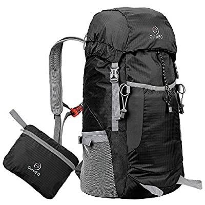 OuterEQ 38L Packable Handy Lightweight Travel Backpack Daypack Water Resistant For Camping & Hiking