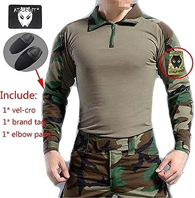 Camiseta de manga larga con coderas AtairSoft BDU para Airsoft, diseño militar, color Camuflaje, tamaño XXL: Amazon.es: Deportes y aire libre