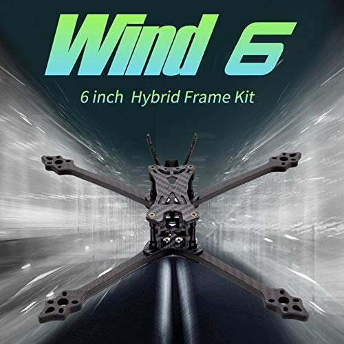 HGLRC Wind6 6 Inch Hybrid Frame Kit Arm 6mm for 6'' Propellers FPV Racing Drone by Wikiwand (Image #2)