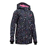 Under Armour Outerwear Youth Girls Cold Gear Infrared Power Line Ins Jacket, Black/Penta Pink, X-Large